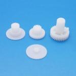 Ersatzgetriebe Kunststoff für Emax ES9257 und E9207 Heck Servo
