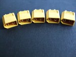 5x XT60 Stecker passend fr Turnigy Zippy LiPo XT 60