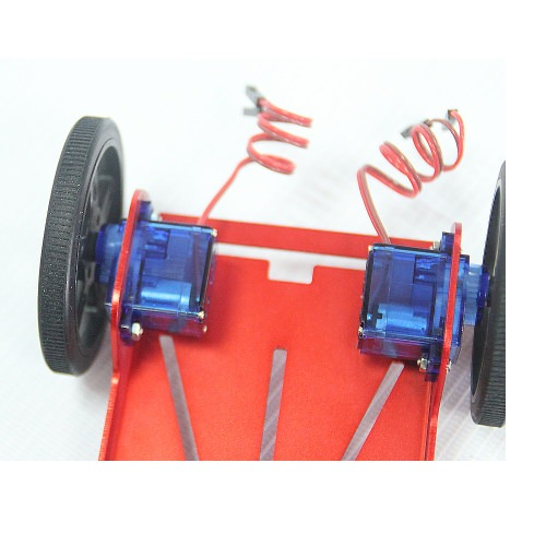 2x FM90 Getriebemotor Feetech 2WD Mini Robot Plattform inkl